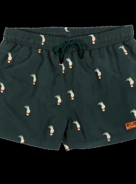Narwal swimshort cockatoo