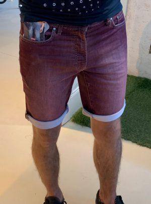 Jogg jeans korte broek bordeauxrood