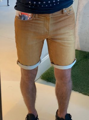 Jogg jeans korte broek camel
