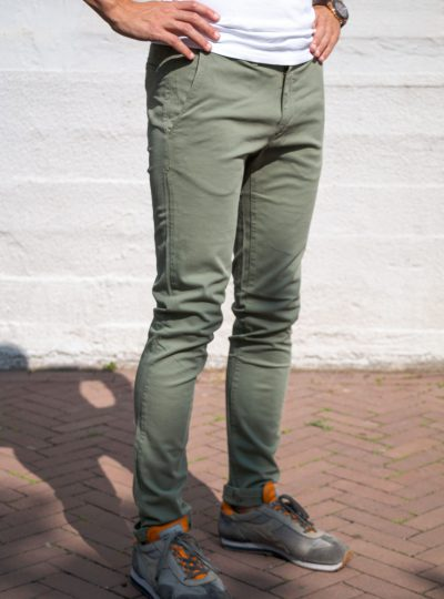 Chino Carrera Jeans Olijfgroen Slim Fit-771 (geen joggjeans)