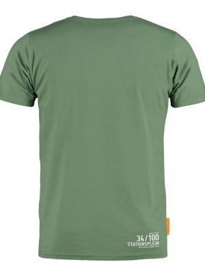 Okimono T-shirt Heren Groen, Stationsplein