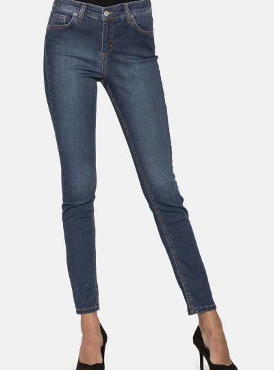 Stretchjeans blauw