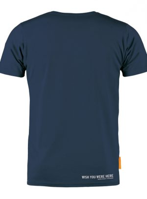 Okimono T-shirt Heren, Blauw, Wish You Were Here
