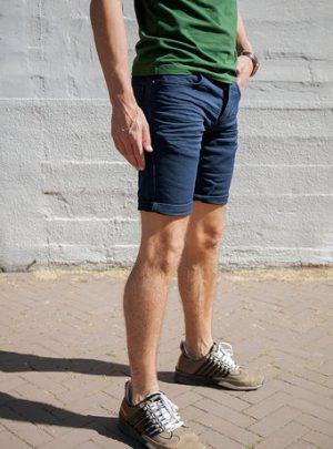 Jogg Jeans Korte Broek Heren, Donkerblauw