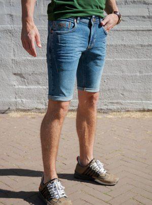 Dragster Recycle Jeans Korte Broek Midblue