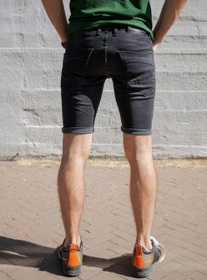 Dragster hyperstretch kort zwart achterkant