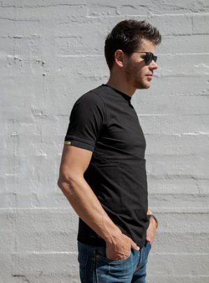 T-shirt Calpe Classica Stretch, Zwart