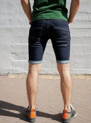 Dragster Hyperstretch Jeans Korte Broek Donker