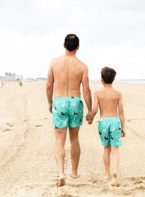 Alpaca zwembroek vader en zoon
