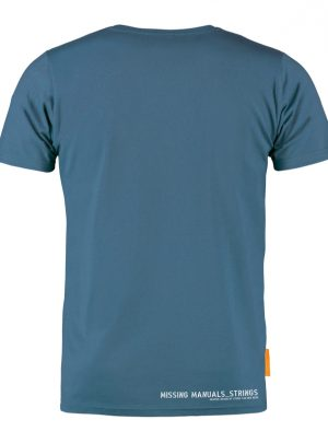 Okimono T-shirt Heren, Blauw, Manual Strings
