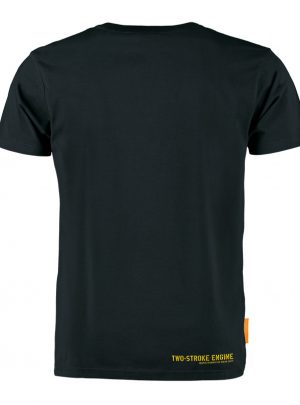 Okimono T-shirt Heren, Zwart, Two-Stroke Engine (NEW)