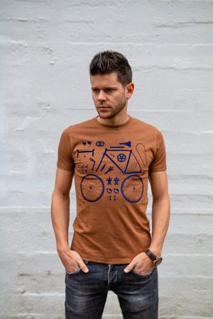 T-shirt bruin pieces bicyclette