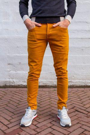 Zachte carrera jeans geel/cognac
