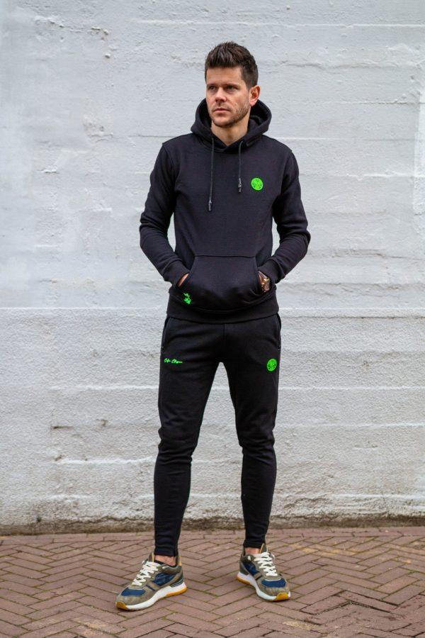 Trainingspak zwart met groen