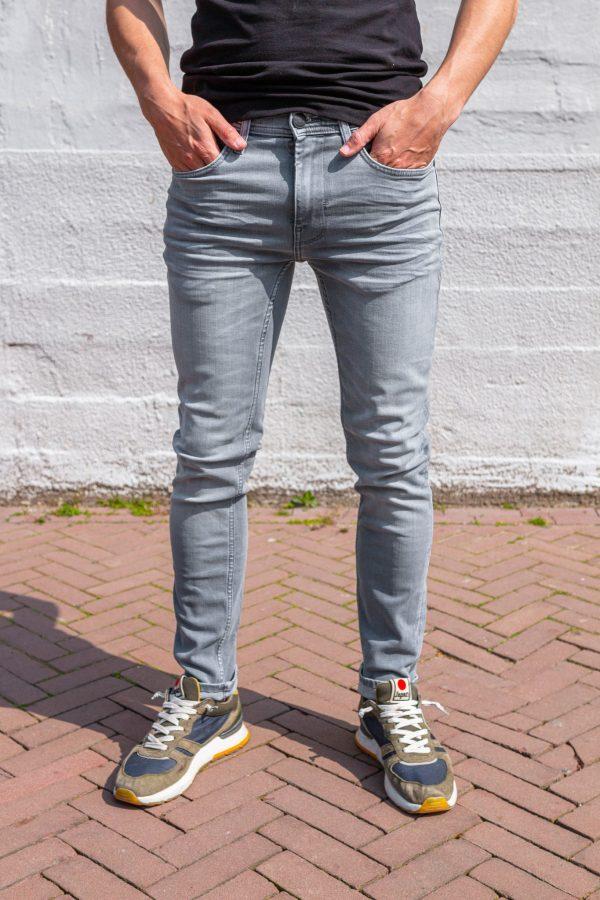 Stretch jeans grijs