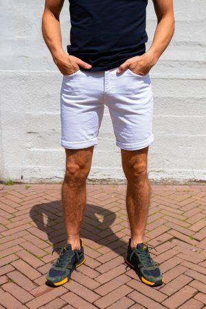 jeans kort wit