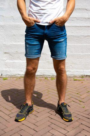 Stretch jeans korte broek