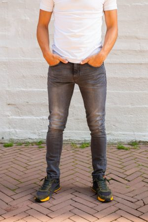 Stretch jeans donkergrijs