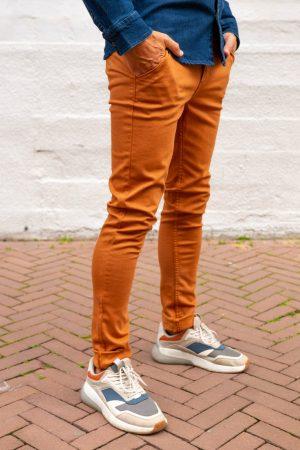 Stretch jeans chino zijkant